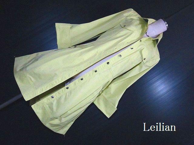 【未使用】特価 Leilian/レリアン:美光沢・スプリングコート・ラインベルト付_画像1