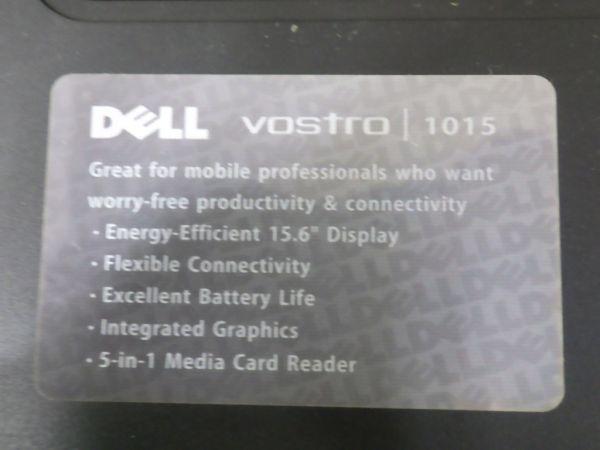 動作保証 DELL デル ノートPC Windows7 PP37L vostro 1015 2.00GB celeron R dualcore CPU T3500 @2.10GHz 2.09GHz リカバリ済み /WA-32604_画像6