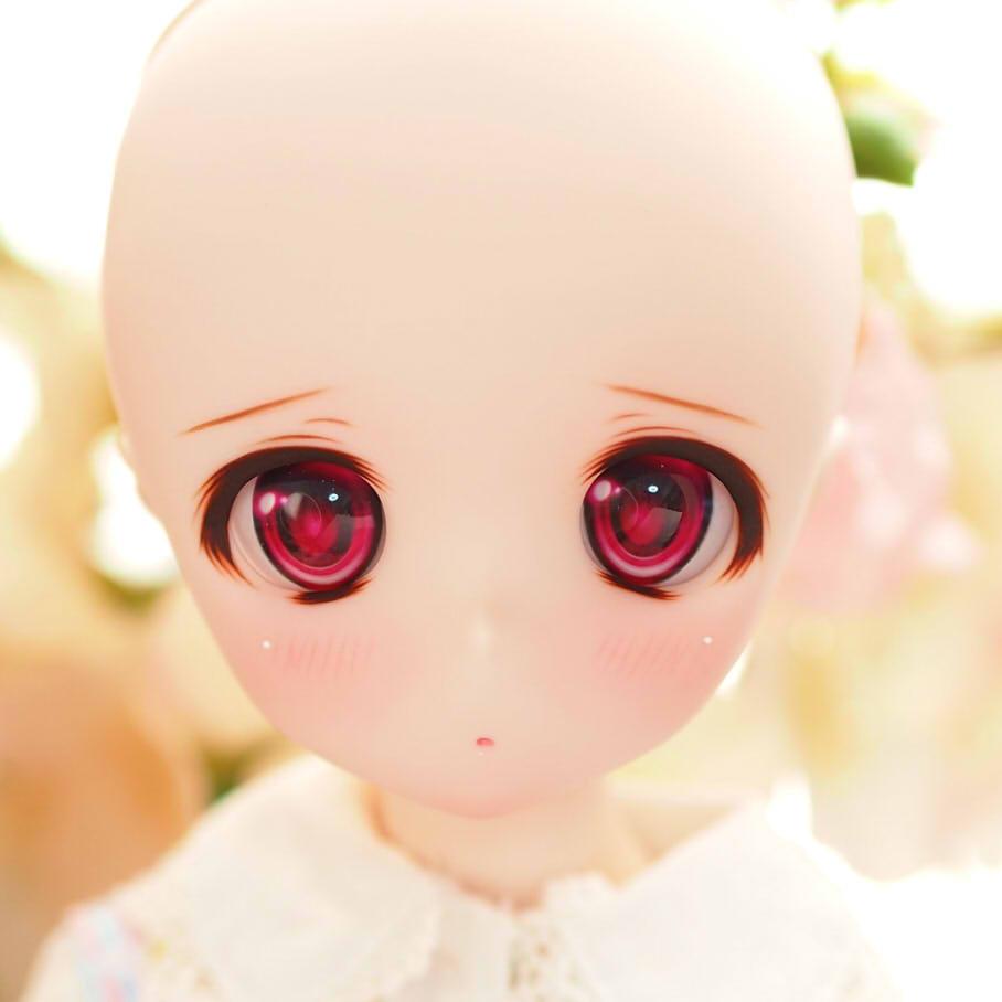 DDH-01セミホワイト肌:カスタムヘッド+レジンアイ_画像7
