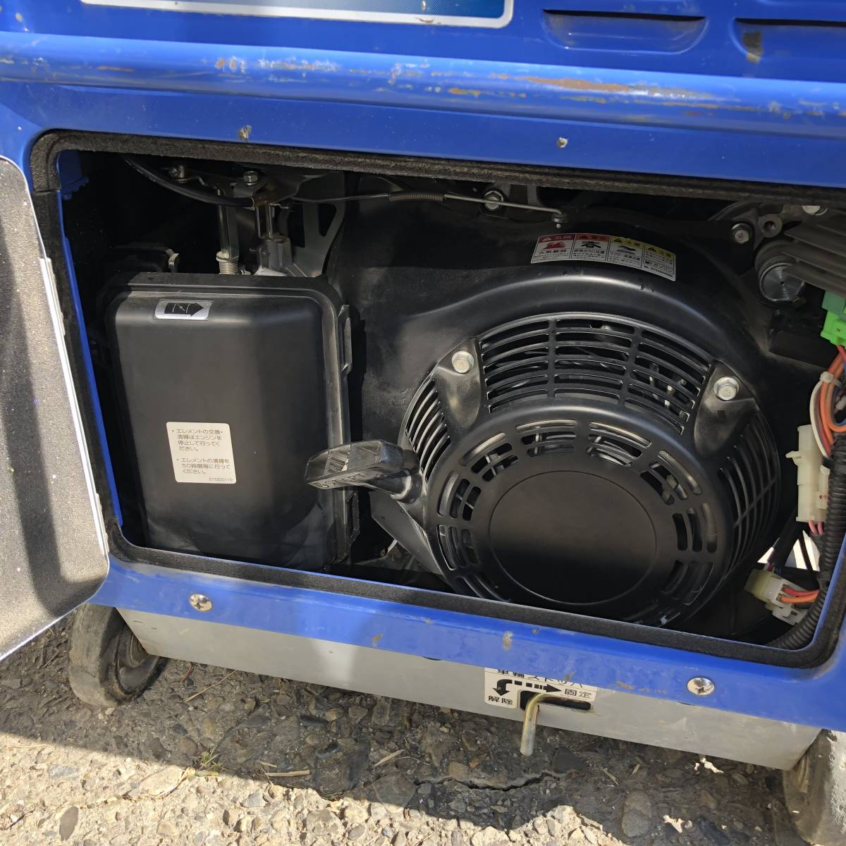 デンヨー 溶接機 GAW-185ES2 ウエルダー 2.0~4.0mm 防音型 インバータ発電機  積算時間161h_画像7