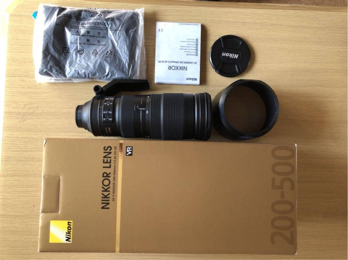 Nikon ズームレンズ AF-S NIKKOR 200-500mm f/5.6E ED VR保護フィルター付 送料無料!