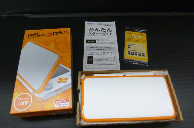 newニンテンドー2DS LL ホワイト×オレンジ 本体 未使用品 任天堂