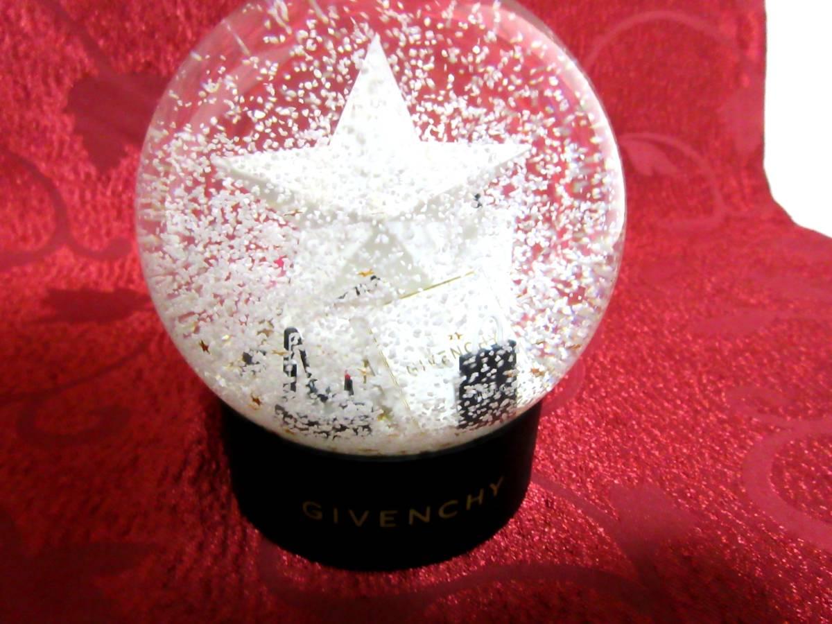 CG059★1円★ジバンシイ GIVENCHY クリスマス スノーボール クリスタル ガラス置物 インテリア_画像2