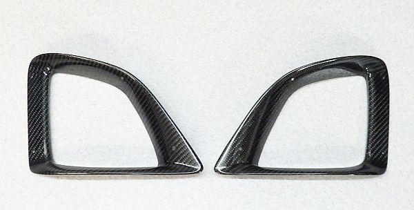 200系ハイエース 3型 エムテクノ カーボン製サイドダクト フォグカバー 美品