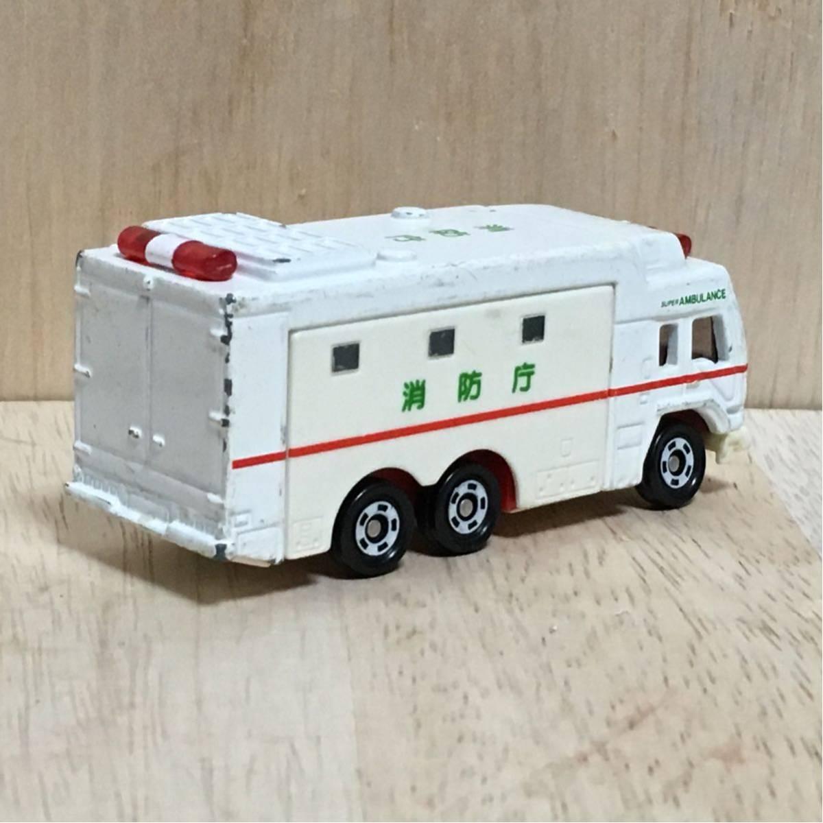 トミカ 116 スーパーアンビュランス 絶版 赤箱 救急車 スーパー アンビュランス 大型 トラック 三菱ふそう ザ・グレート FUSO MITSUBISHI_画像2