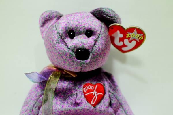 N9  soft toy  ty BEANIE BABIES 2000 Signature Bear 21cm  Real Yahoo ... 89bc52fc068