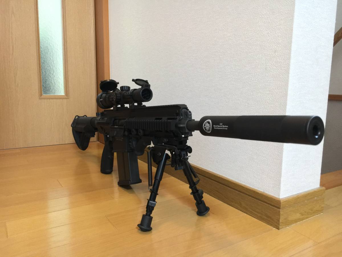 美品 VFC HK 417 ベンガジ 12 インチ スナイパーライフル カスタム 豪華付属品多数 HK 416 m4 ak mk17