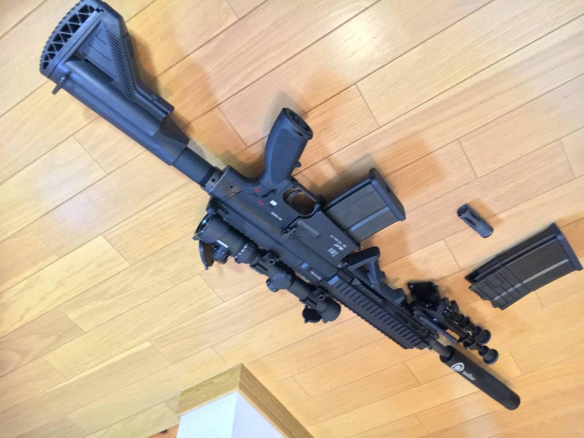 美品 VFC HK 417 ベンガジ 12 インチ スナイパーライフル カスタム 豪華付属品多数 HK 416 m4 ak mk17_画像2