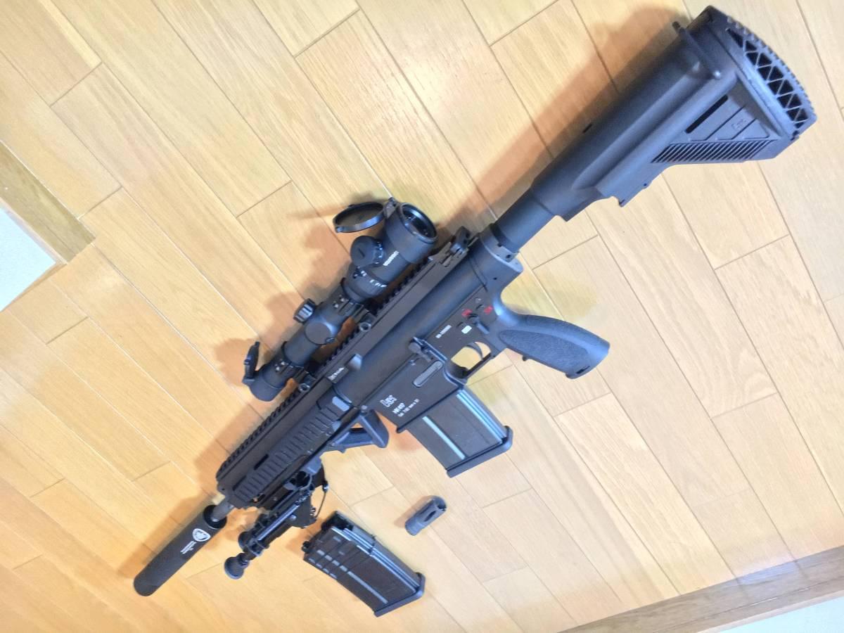 美品 VFC HK 417 ベンガジ 12 インチ スナイパーライフル カスタム 豪華付属品多数 HK 416 m4 ak mk17_画像3