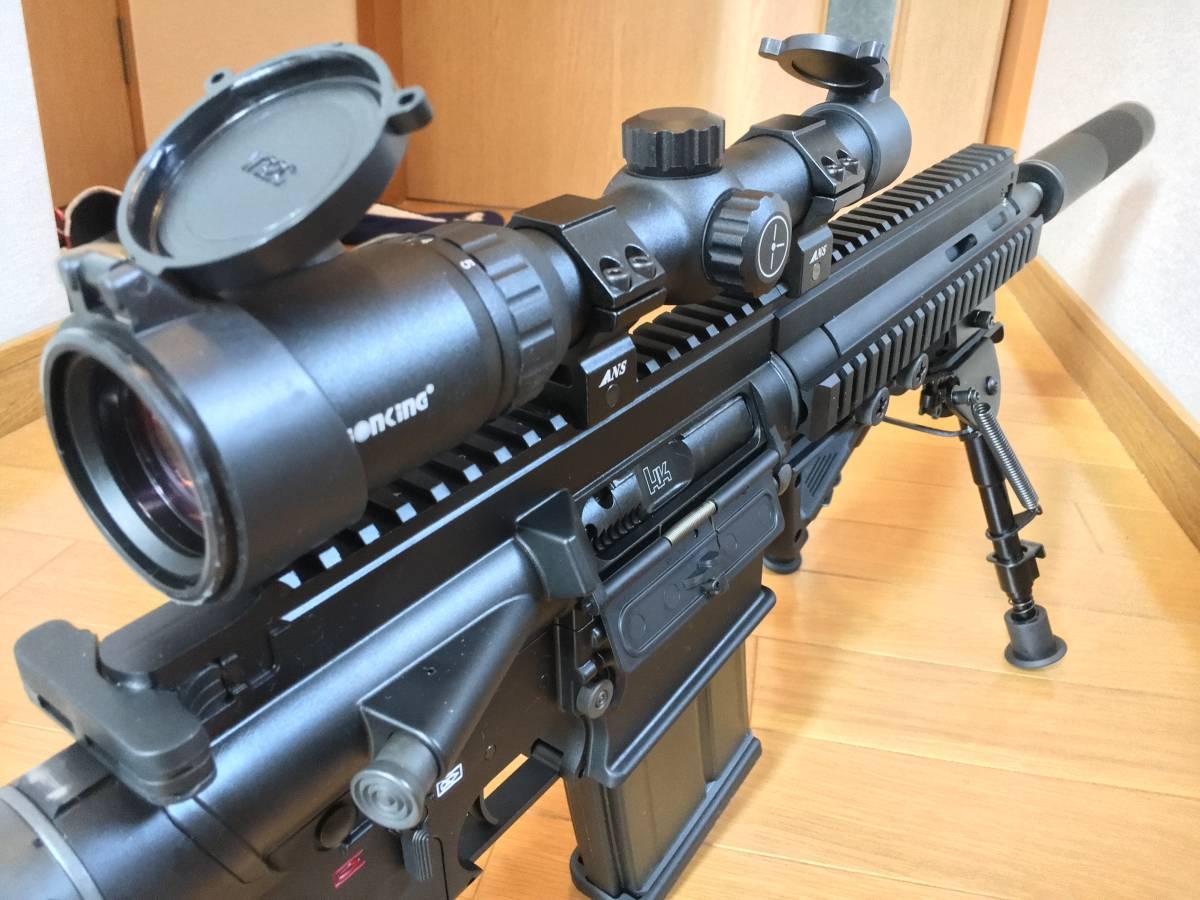 美品 VFC HK 417 ベンガジ 12 インチ スナイパーライフル カスタム 豪華付属品多数 HK 416 m4 ak mk17_画像4