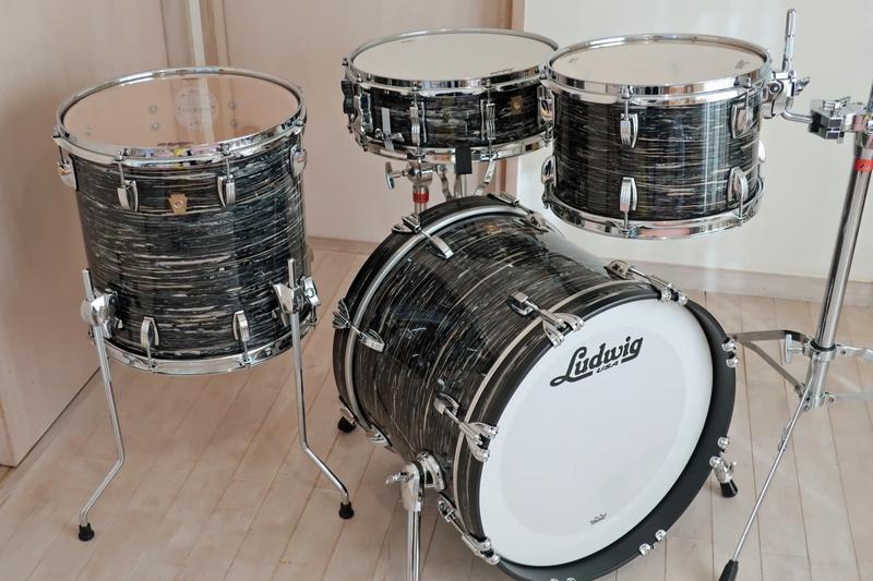 新品 Ludwig Classic Maple ブラックオイスター 18・12・14+スネアドラム 米国製