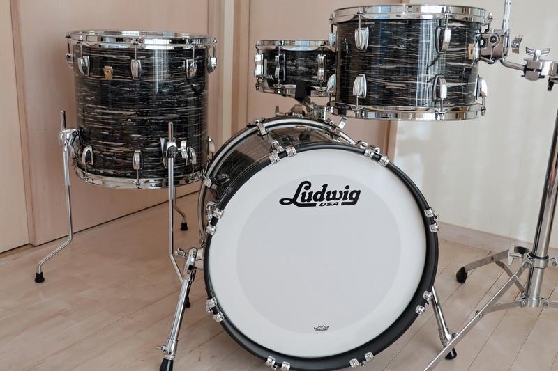 新品 Ludwig Classic Maple ブラックオイスター 18・12・14+スネアドラム 米国製_画像2