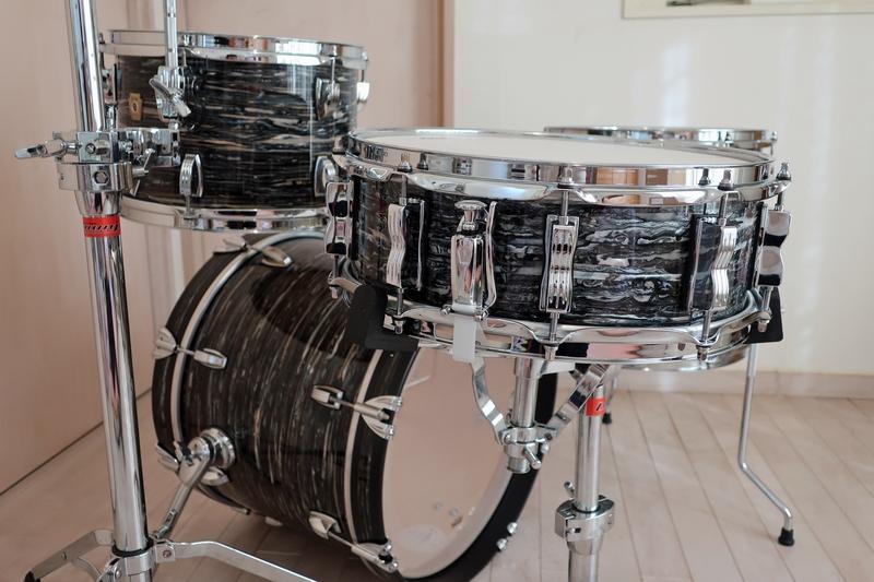 新品 Ludwig Classic Maple ブラックオイスター 18・12・14+スネアドラム 米国製_画像6