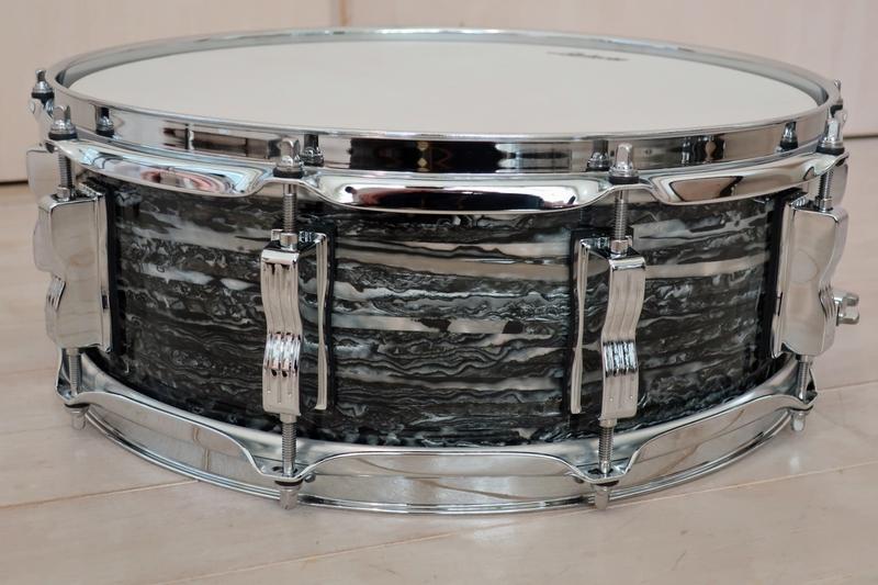 新品 Ludwig Classic Maple ブラックオイスター 18・12・14+スネアドラム 米国製_画像9