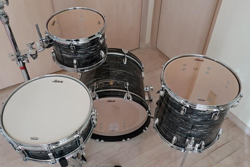 新品 Ludwig Classic Maple ブラックオイスター 18・12・14+スネアドラム 米国製_画像5