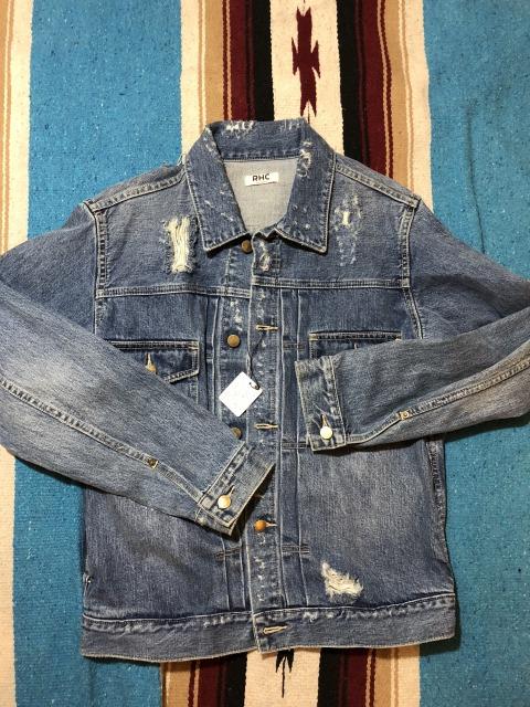 ロンハーマン RHC Crush Denim Jacket インディゴ クラッシュ デニム ジャケット100%正規