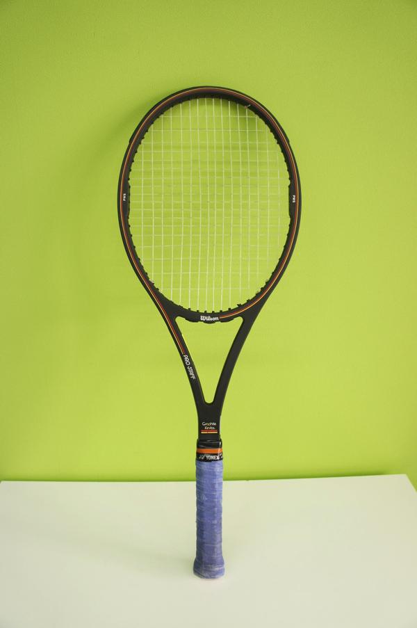 【中古品】 Wilson ウィルソン テニスラケット PRO STAFF プロスタッフ MIDSIZE Graphite kevlar 4 3/8(L3) ケース付き_画像5