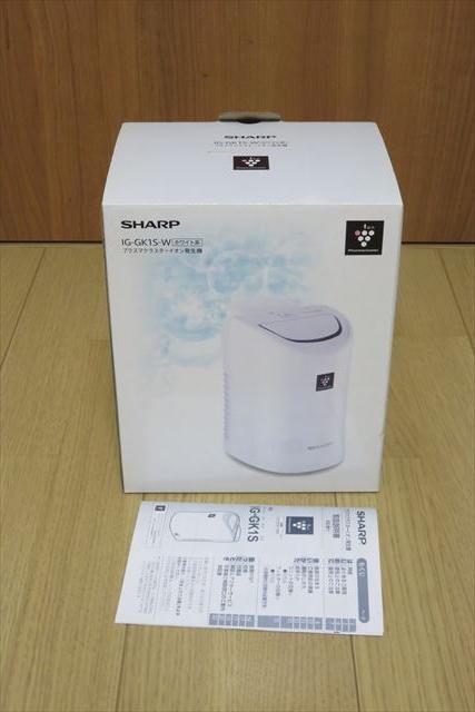 SHARP プラズマクラスターイオン発生機 IG-GK1S-W ホワイト系 新品