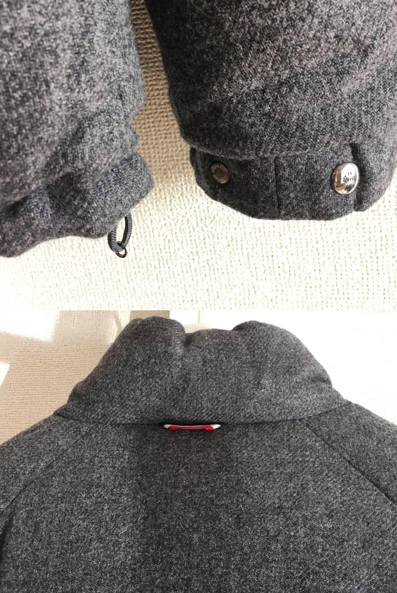 新品 本物 モンクレール ガムブルー ウール リバーシブル ダウン ジャケット コート 3 MONCLER GAMME BLEU トムブラウン モノトーン_画像7