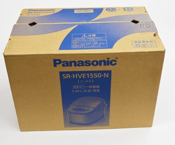 未使用 Panasonic パナソニック IHジャー炊飯器 8合炊き SR-HVE1550-N ゴールド 税込