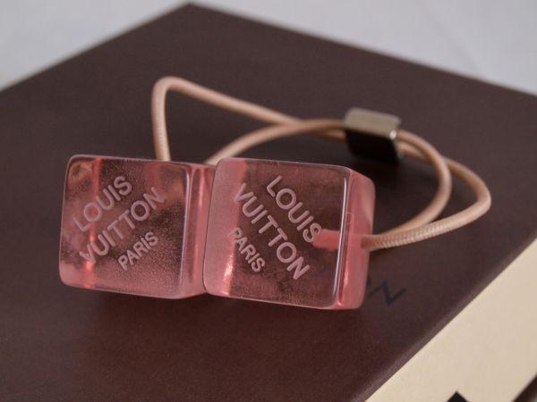 1円◆ルイヴィトンLOUIS VUITTONキューブ ヘアゴム ピンク+空箱セット ヘアキューブ/ロゴ/髪飾り/小物/アクセサリー/ボックス/BOX