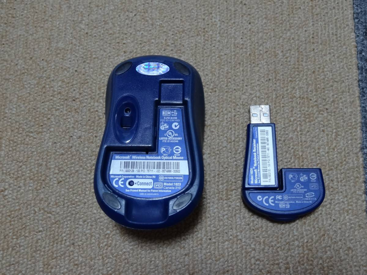 Microsoft Wireless Notebook Optical Mouse ①_画像2