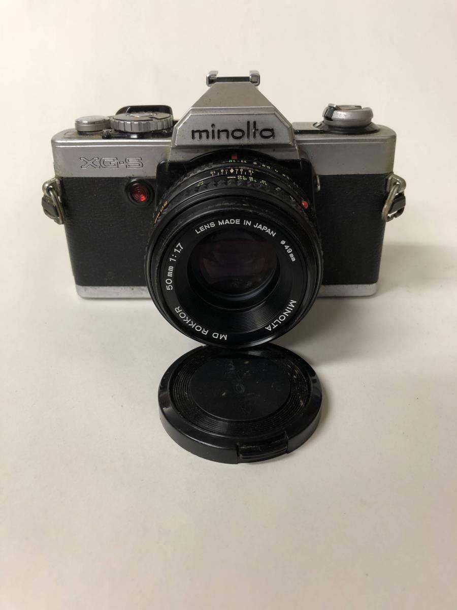 カメラ MINOLTA ミノルタ XG-S+MD ROKKOR 50mm F1.7 ジャンク bm1-26