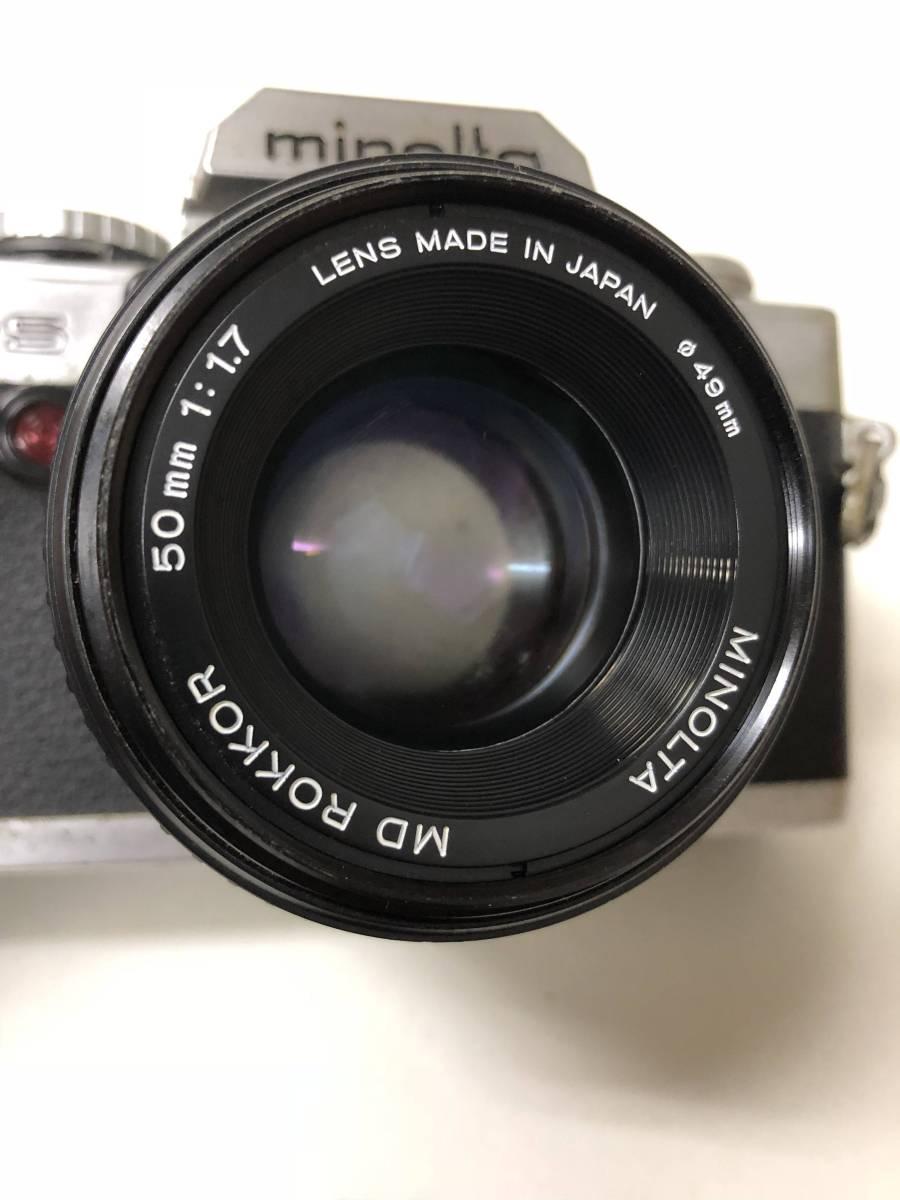 カメラ MINOLTA ミノルタ XG-S+MD ROKKOR 50mm F1.7 ジャンク bm1-26_画像2