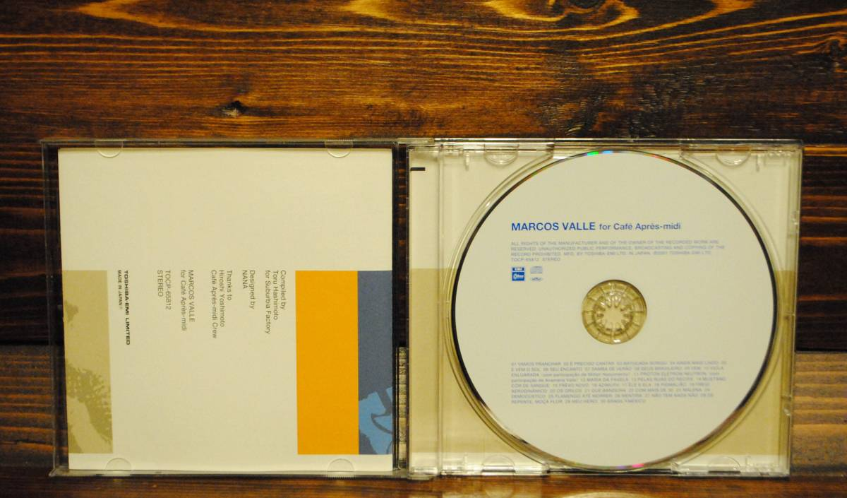 ●CD● MARCOS VALLE for Cafe Apres-midi / 2001年 国内盤 / 橋本徹 / Free soul / サバービア / カフェアプレミディ / 送料_画像4