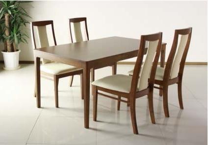 送料無料 シンプルで落ち着いたデザイン。幅広なテーブルと背当たりの良いハイバック仕様。テーブルとチェアの4人掛セット