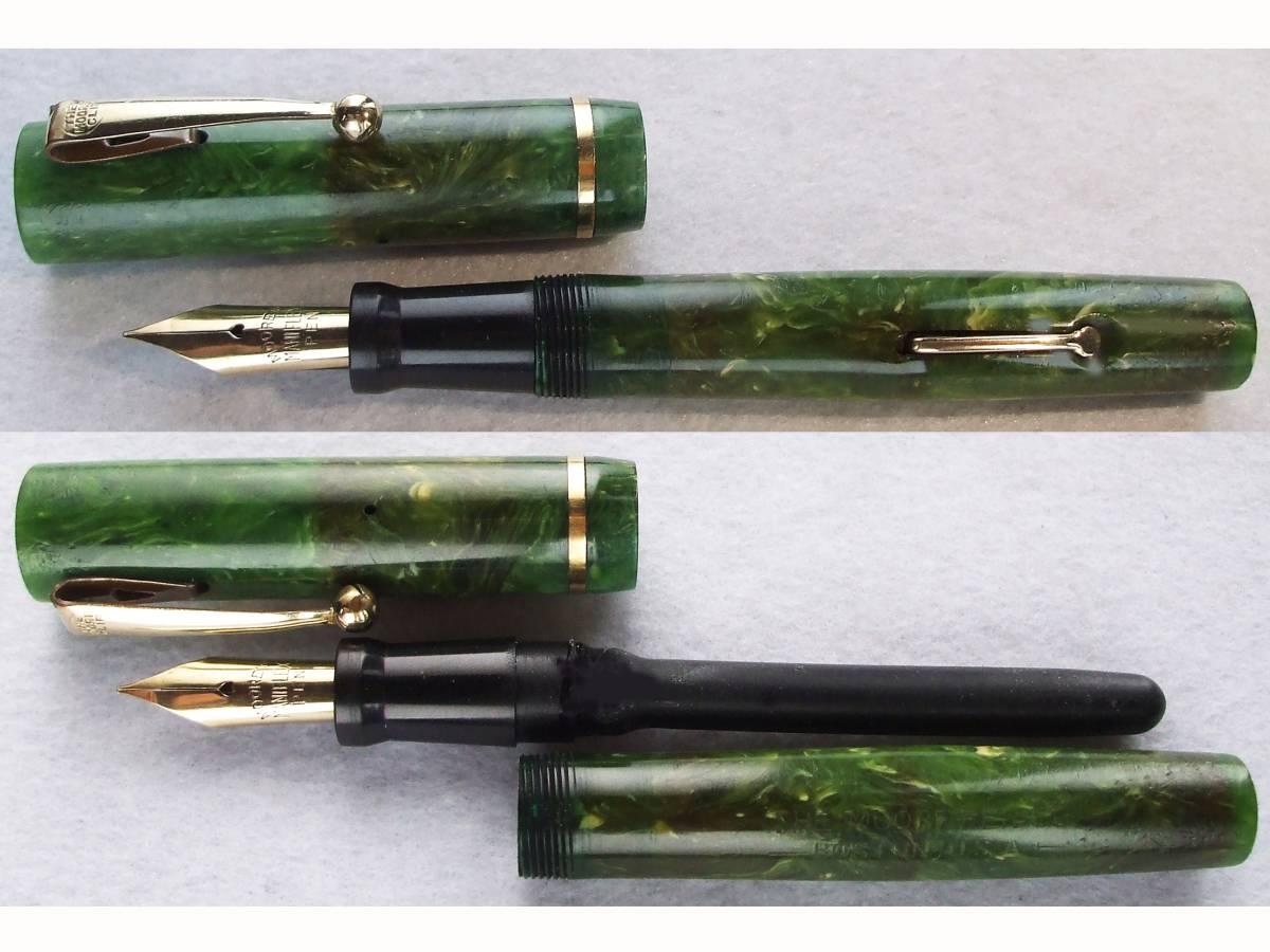 ◆レア◆1930年代製 ムーア万年筆 L-85 14金F USA ◆ 1930s Moore Fountain Pen L-85 14ct F nib U.S.A. ◆_画像3