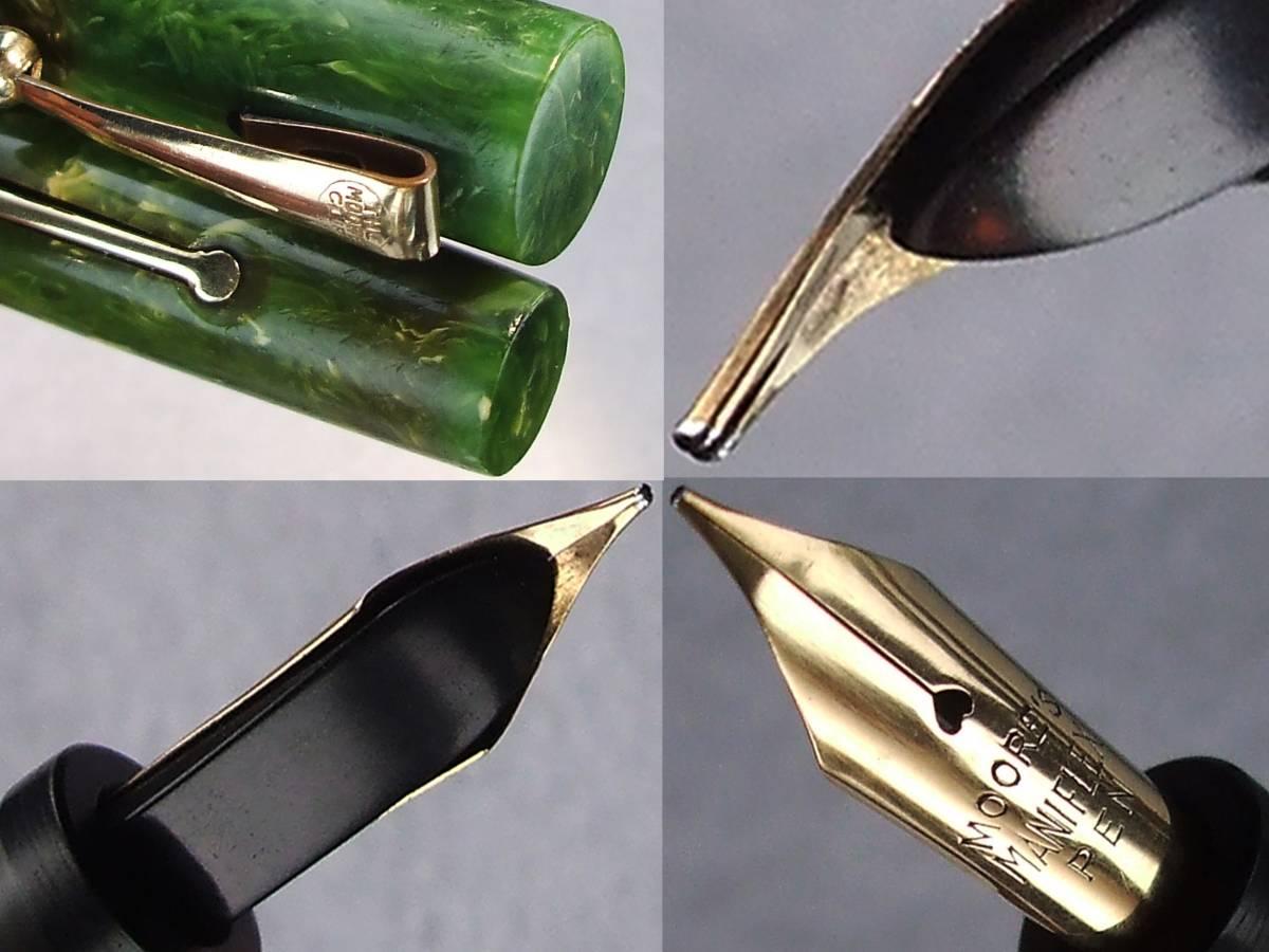 ◆レア◆1930年代製 ムーア万年筆 L-85 14金F USA ◆ 1930s Moore Fountain Pen L-85 14ct F nib U.S.A. ◆_画像5