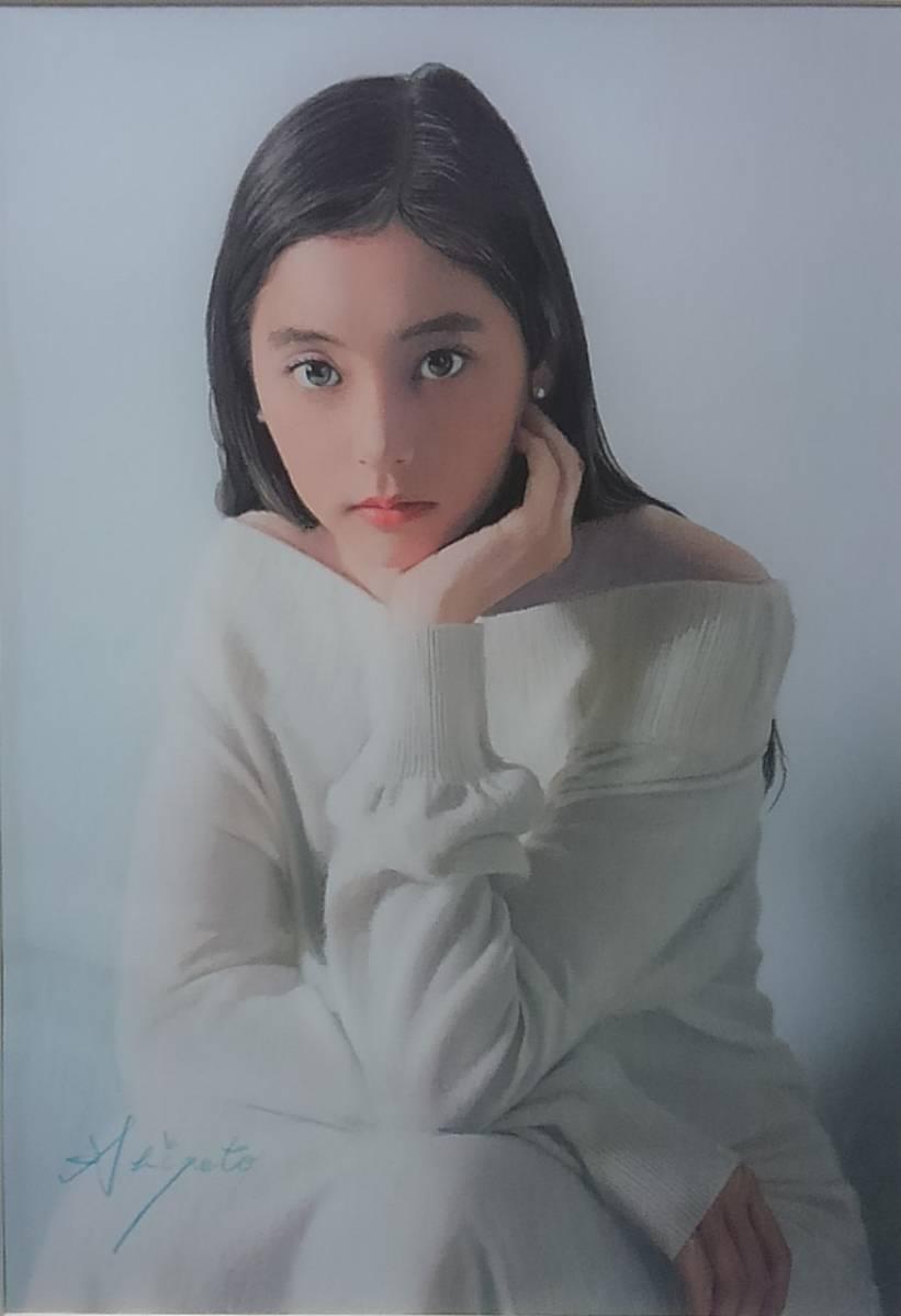 『少女122』 S.Tomo氏直筆色鉛筆画 超美品