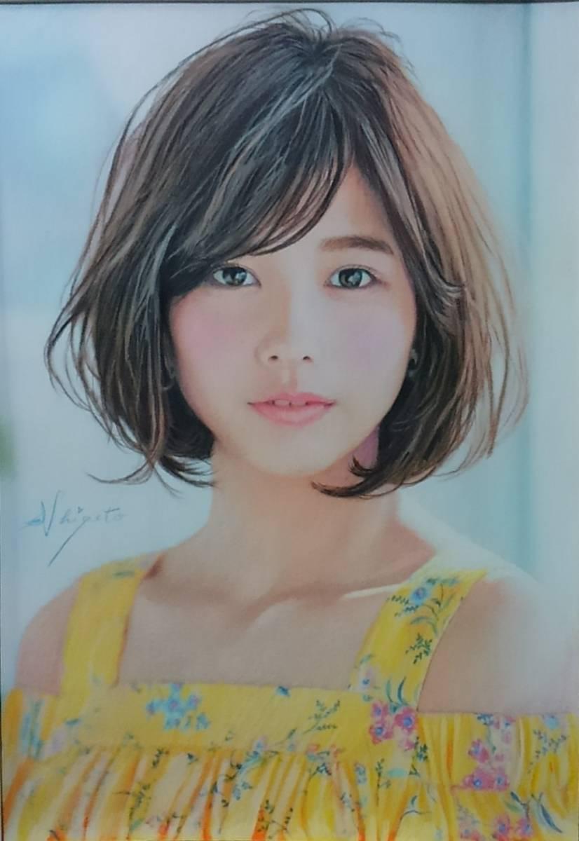 『少女125』 S.Tomo氏直筆色鉛筆画 超美品