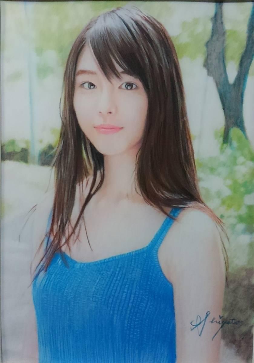 『少女124』 S.Tomo氏直筆色鉛筆画 超美品