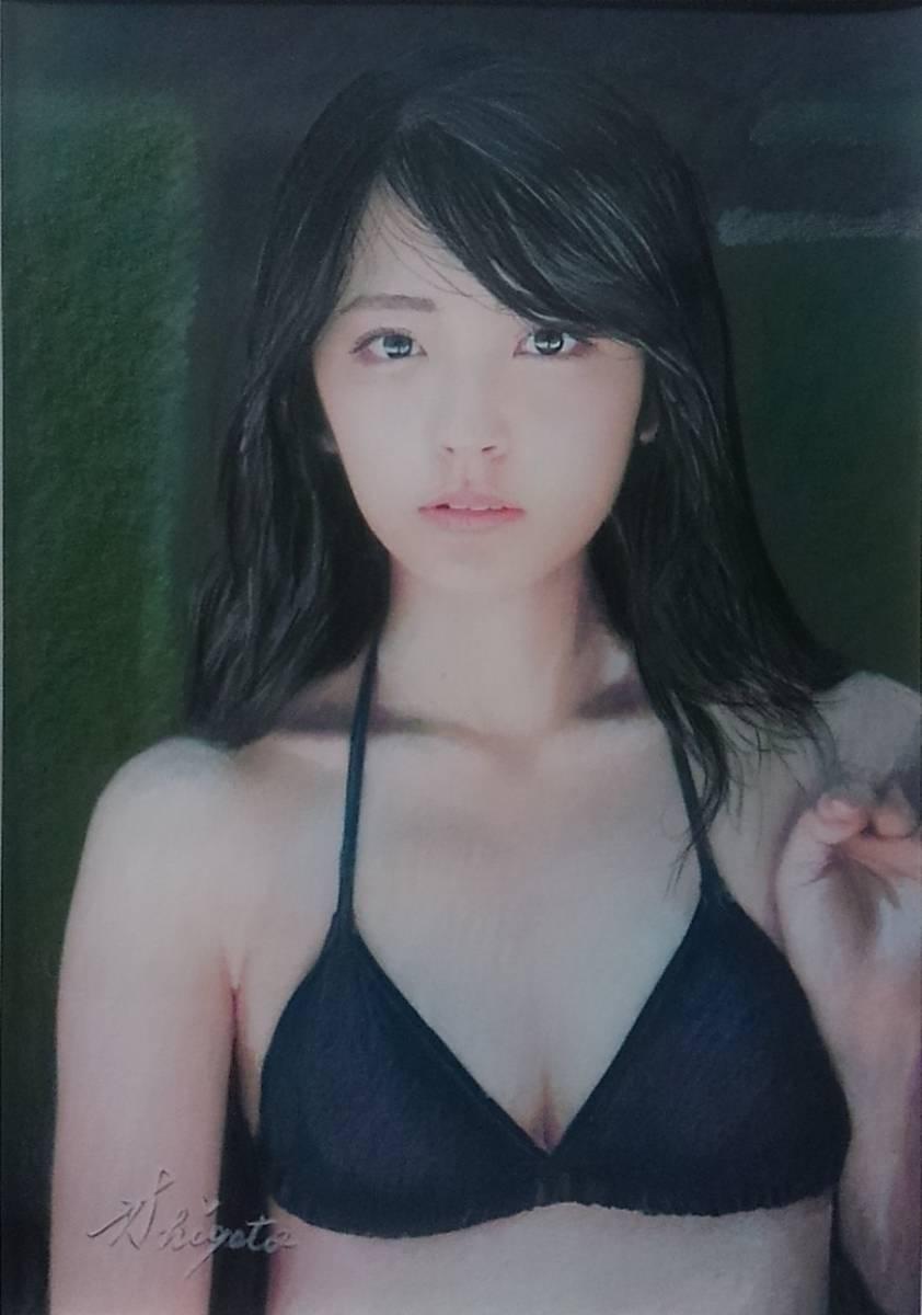 『少女121』 S.Tomo氏直筆色鉛筆画 超美品
