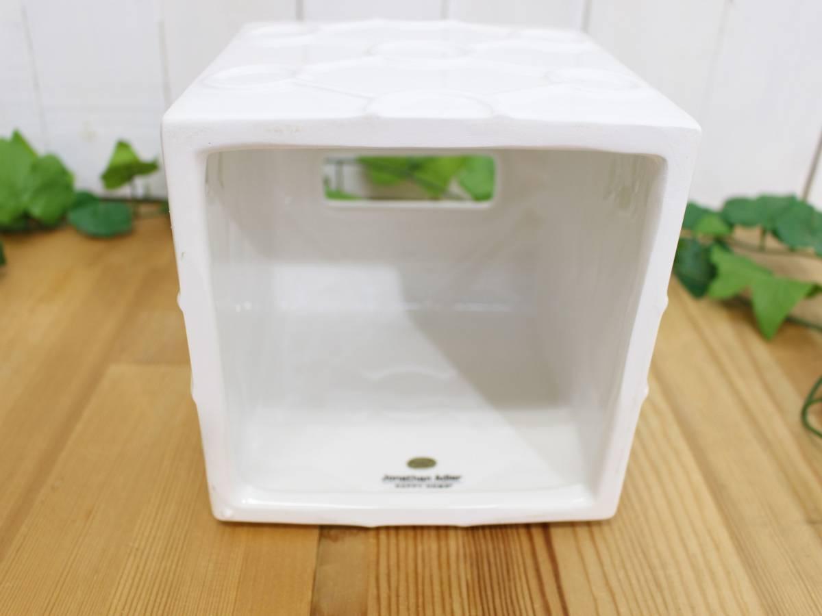 新品◆JONATHAN ADLER ジョナサンアドラー◆インテリア 雑貨 陶器 ティッシュカバー ティッシュケース ティッシュボックス(ホワイト)_画像2