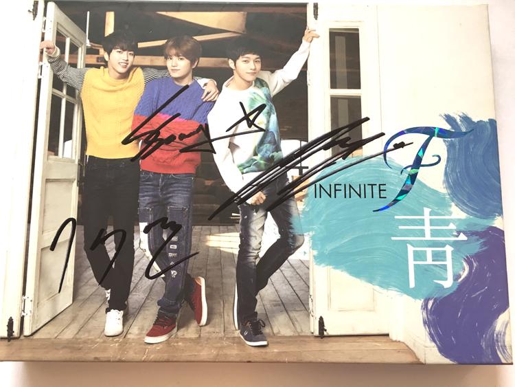 INFINITE F ★全員直筆サイン入り★青 1st シングル (韓国盤)非売品