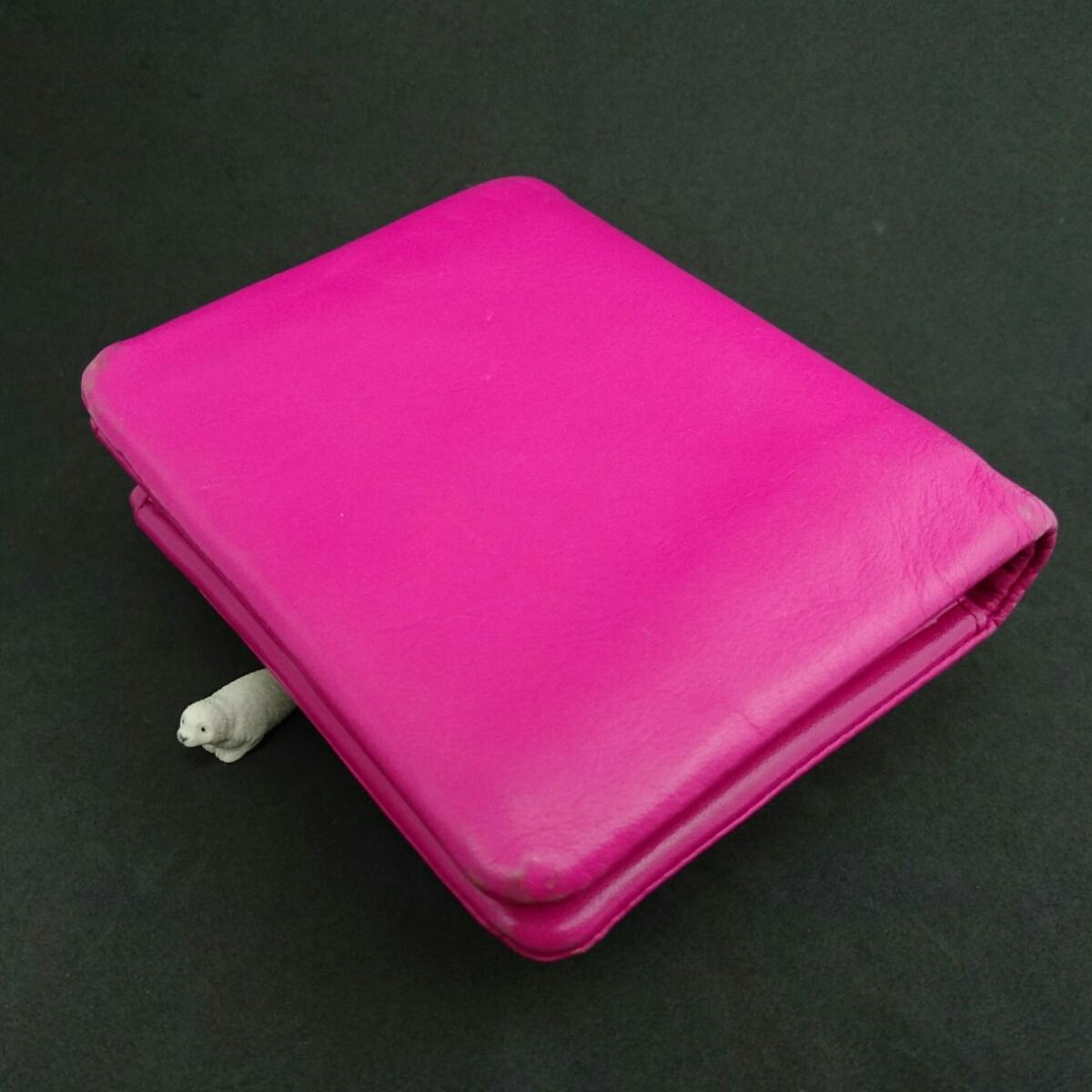 d11e0239c715 agnes b. アニエスベー 牛革 2つ折り財布 ピンク 中古 G 365|品牌|价格 ...
