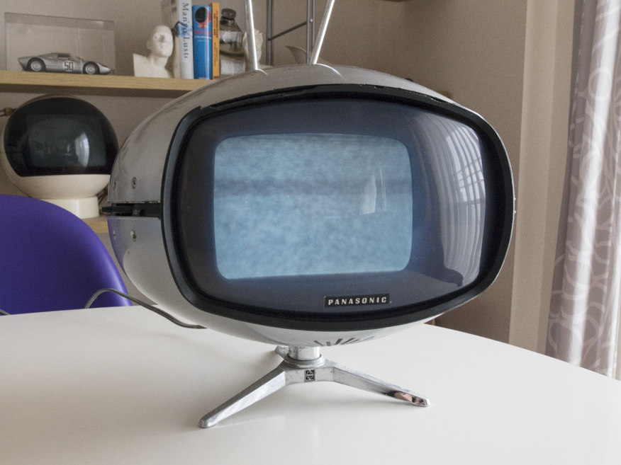 希少☆ナショナル Panasonic トランジスターTV TR-005 (TR-603A)スペースエイジ ミッドセンチュリー ブラウン管 デザイン家具