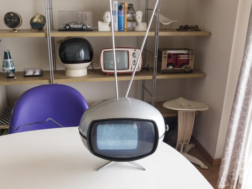希少☆ナショナル Panasonic トランジスターTV TR-005 (TR-603A)スペースエイジ ミッドセンチュリー ブラウン管 デザイン家具_画像10