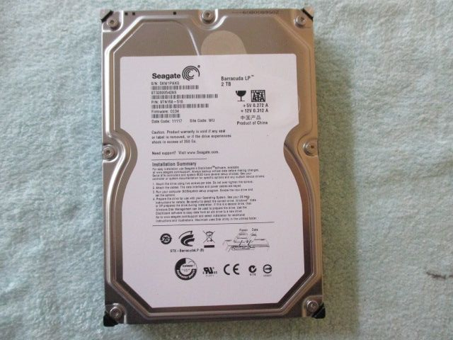 ♪Seagate★HDD★2TB★ST32000542AS★中古品