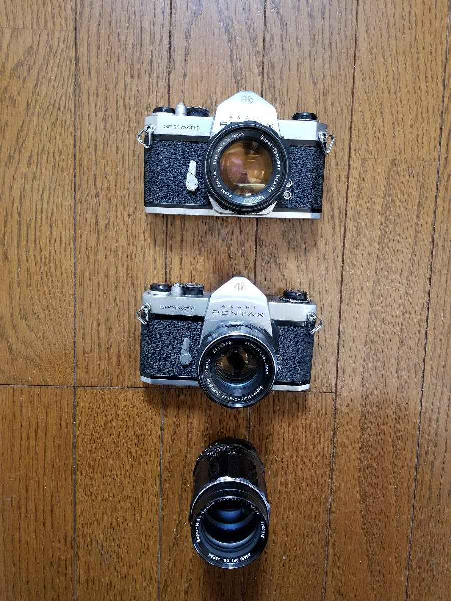 ペンタックスカメラ、レンズ付き、シャッター作動、ジャンク扱い