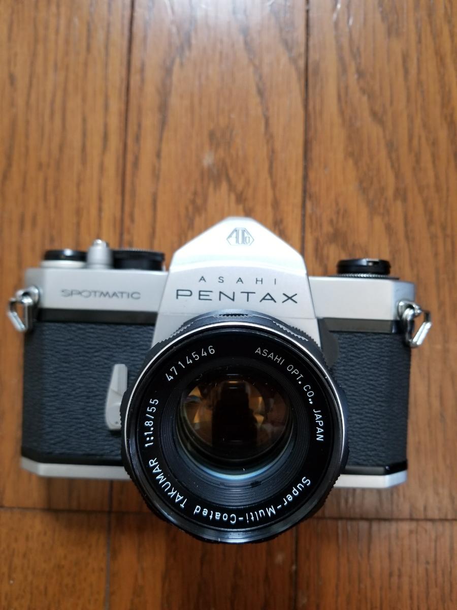 ペンタックスカメラ、レンズ付き、シャッター作動、ジャンク扱い_画像6