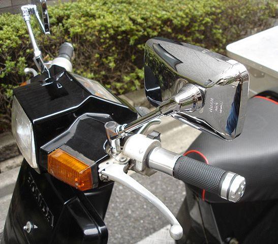 TD01 TD02 ジャイロX用メッキワイドミラー(左右セット)_画像4