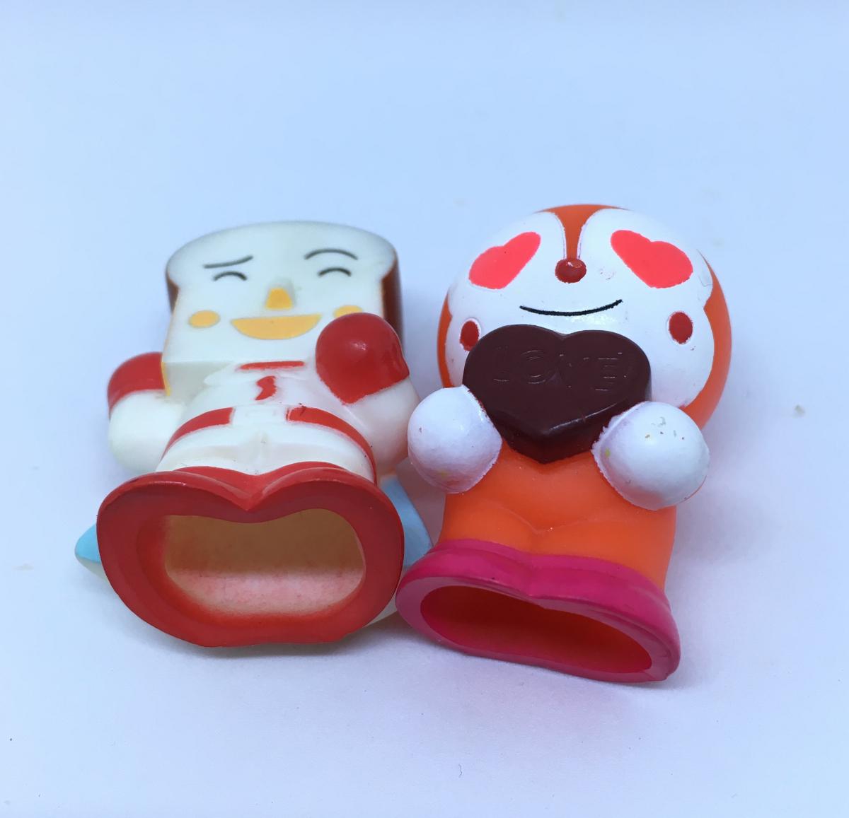 アンパンマン 指人形 ドキンちゃん チョコレート しょくぱんまん ハート バレンタインデー
