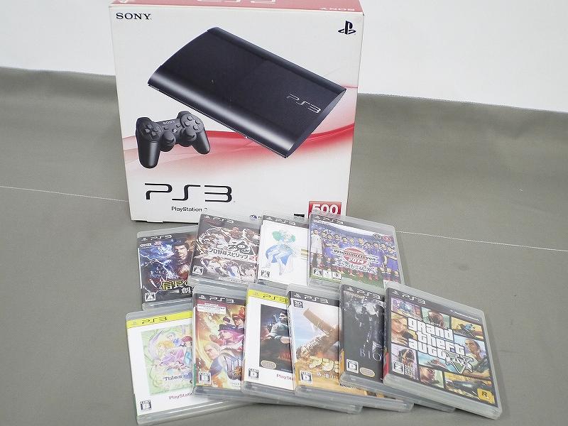 1円~★SONY PS3 (500GB) CECH-4000C 本体 動確済 オマケ付(ジャンクソフト10本)A 4560