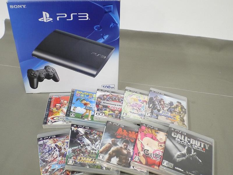 1円~★SONY PS3 (500GB) CECH-4300C 本体 動確済 オマケ付(ジャンクソフト10本)C 4562