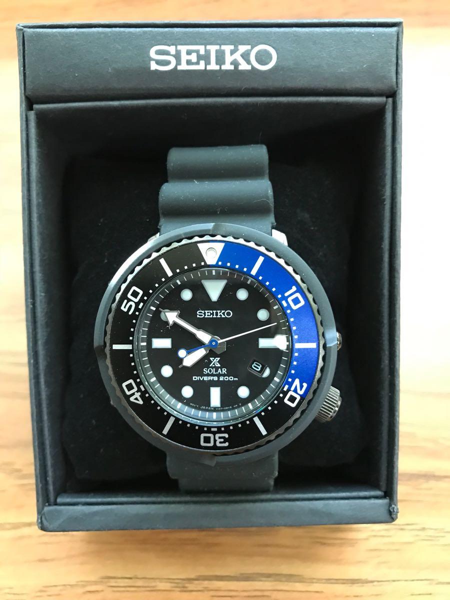 【SEIKO】PROSPEX ソーラー 200m 空気潜水用防水 腕時計_画像3