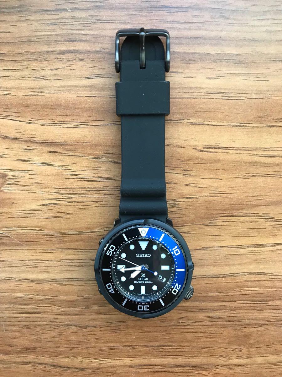 【SEIKO】PROSPEX ソーラー 200m 空気潜水用防水 腕時計_画像4